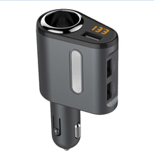 Universal 3 USB Car Quick Charger Adapter Voltage Monitor cigarette lighter Car Phone Charger For iPhone