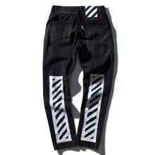 ВЫСОКОЕ качество белые джинсы Разорвал Джинсы Колено Отверстие Молния байкер мужская гарем брюки джинсы Разрушенные Torn страх божий бегунов