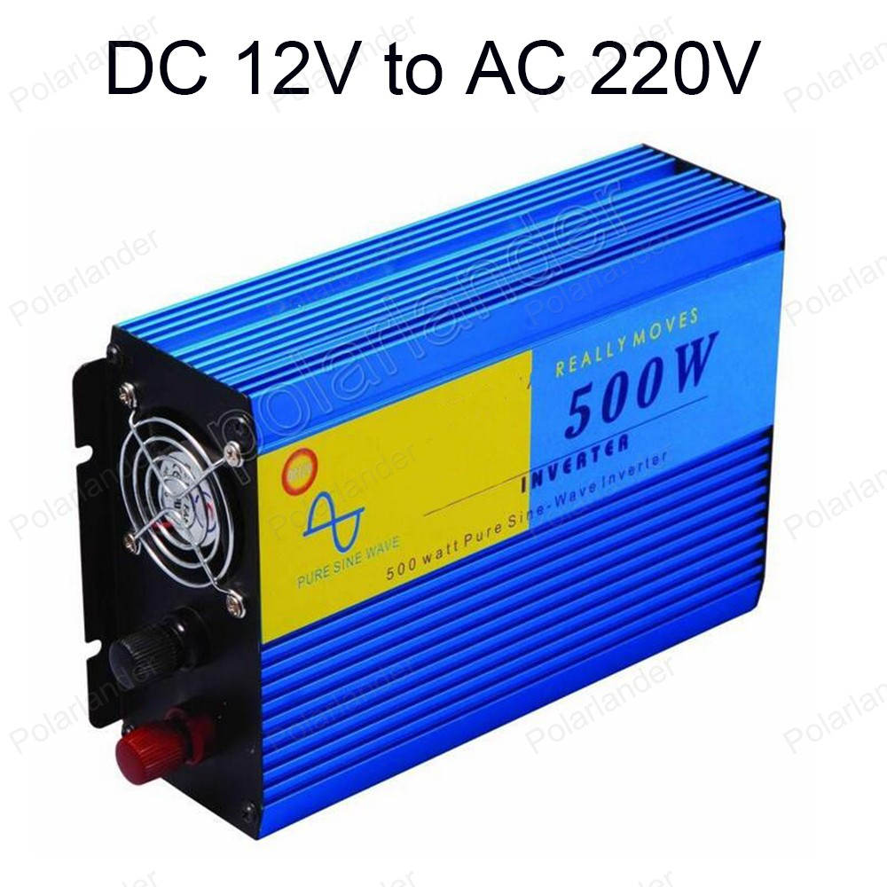 DC 12V to AC 220V Pure Sine Wave Power Inverter 500W Car Power Inverter converter CE certificated For Home Use 50 HZ 3 5kw 220v car inverter 3500w3500watt pure sine wave power inverter home car car power inverter dc 12v to ac 220v 3500w