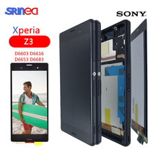 For SONY Xperia Z3 Screen Original 1920x1080 5.2'' LCD For Sony Z3 Display Touch Screen D6603 D6633 D6653 L55T + Frame Adhesive 4 6 white or black for sony xperia z3 mini compact d5803 d5833 lcd display touch digitizer screen assembly sticker