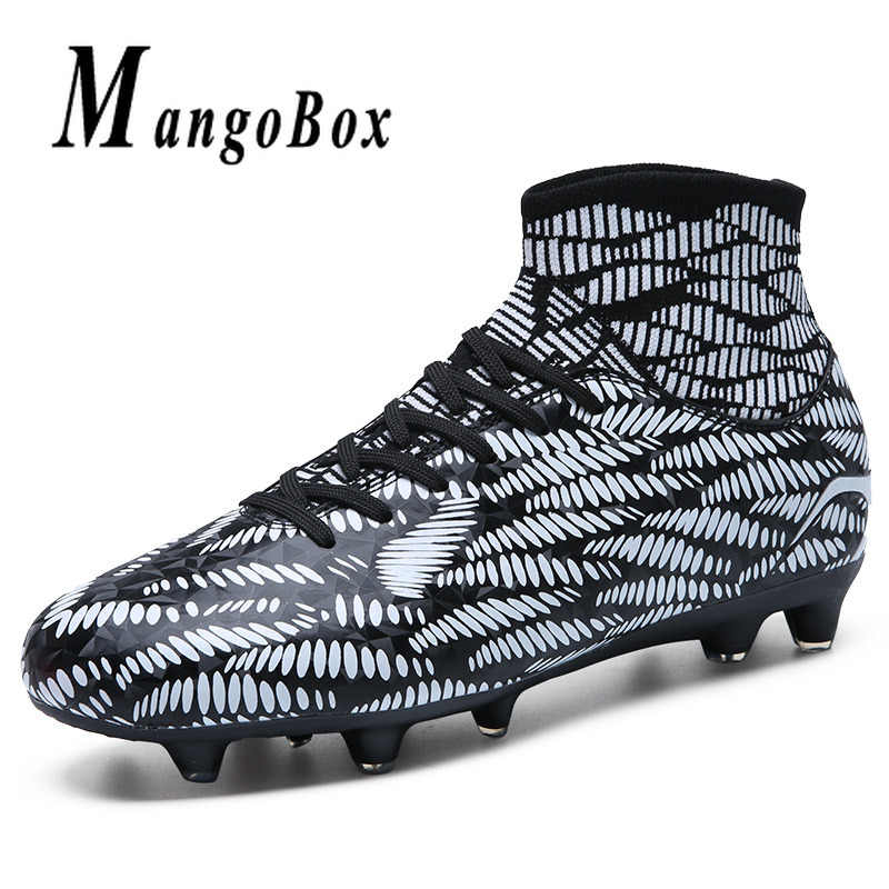 Top Quality Football Men Sock Boots Pu Leather Mens Soccer
