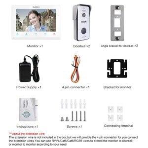 Image 5 - TMEZON 10 pulgadas inalámbrico/Wifi Smart timbre de Video sistema de intercomunicación IP, 1 Monitor de pantalla xTouch con 2x720P cámara de teléfono de puerta con cable