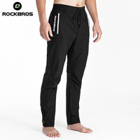 ROCKBROS Running Pants Long Men Elasticity Trousers Band Reflective Breathable Outdoor Sport Pants Run Black Clothing
