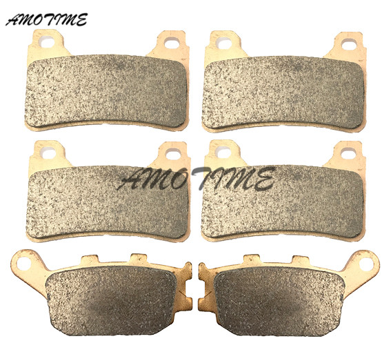 Motorcycle Parts Copper Based Sintered Motor Front & Rear Brake Pads For Honda CBR600RR F5 2005-2006 CBR1000RR 2004-2005