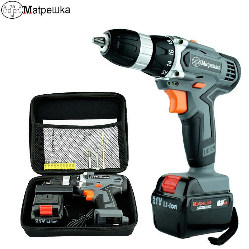 21V Cordless Electric Screwdriver Power Tool Household Multi-function Rechargeable Electric Drill 1 Battery +1 Bag +13 Gifts21V Cordless Electric Screwdriver Power Tool Household Multi-function Rechargeable Electric Drill 1 Battery +1 Bag +13 Gifts