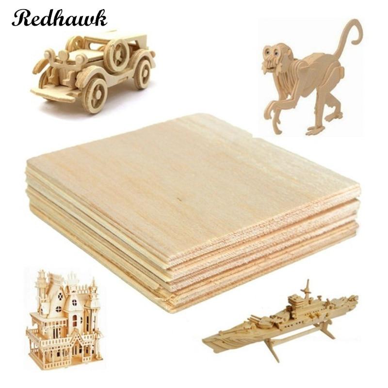 AAA Balsa Wood Sheet ply 5 Sheets 120 x 120 x 1mm Model Balsa Wood Can