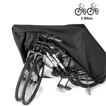 Bike Cover Storage Waterproof Outdoor Electric Bicycle Rain Cover Tarp Dustproof UV Protective for 2 Bikes HT19-0012 customize multiple dimensions blue and white outdoor cover cloth waterproof canvas rain tarpaulin truck tarp
