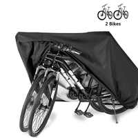 Bike Cover Storage Waterproof Outdoor Electric Bicycle Rain Cover Tarp Dustproof UV Protective for 2 Bikes HT19-0012