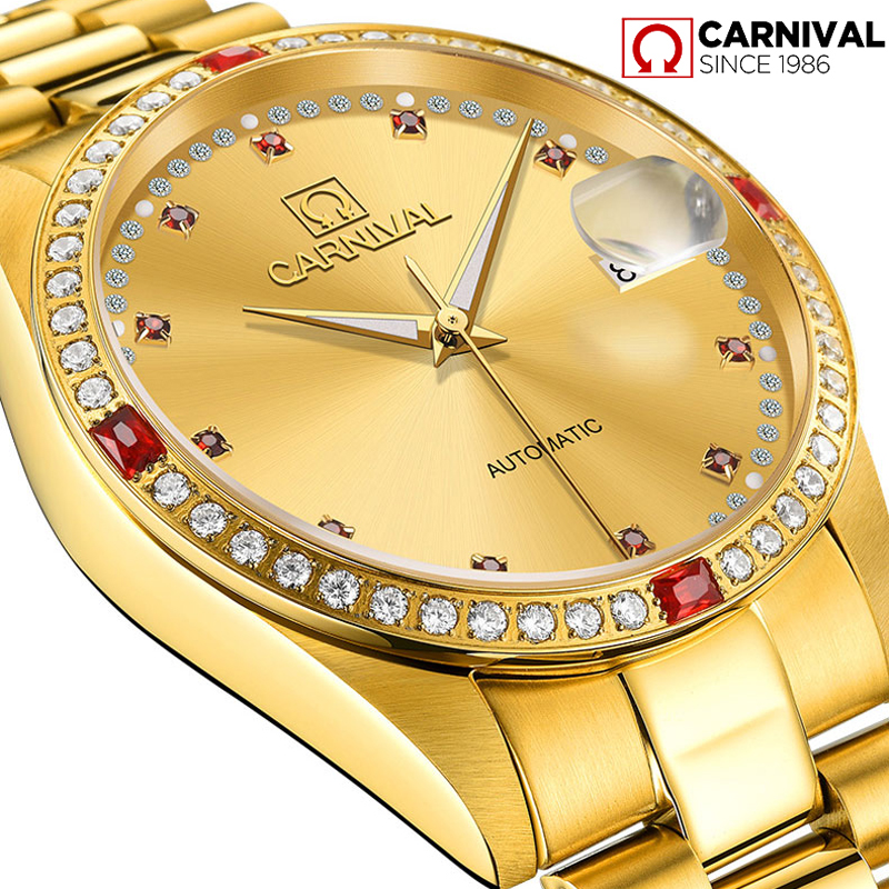 Men Luxury Automatic Mechanical Watches Gold Stainless Steel Waterproof Wristwatch Male Sapphire Luminous Relogio Masculino 2018 men gold watches automatic mechanical watch male luminous wristwatch stainless steel band luxury brand sports design watches