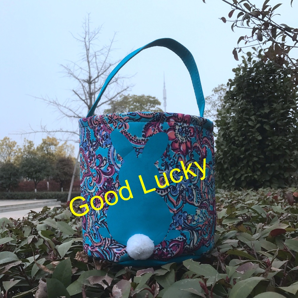 Us 355 0 100pcs Lot Decoration Wholesale 2019 Newest Style Easter Basket High Quality Easter Bags Lily Pulitzer Inspired Easter Buckets In Gift Bags
