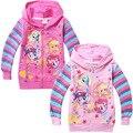 2015 весна маленькие девочки дети хлопок толстовки на молнии пони куртка пальто домашняя одежда кофты в наличии 5 шт./лот