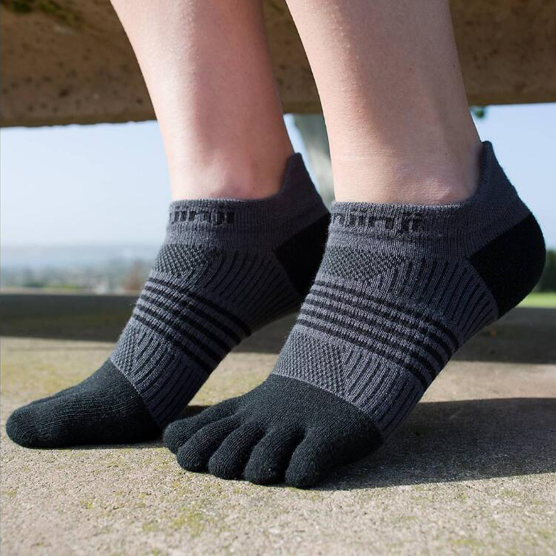 Injinji Five-finger Sneakers Socks No-show Thin Running Quick-drying Breathable Sports Women's Wear-resistant COOLMAX Pilates