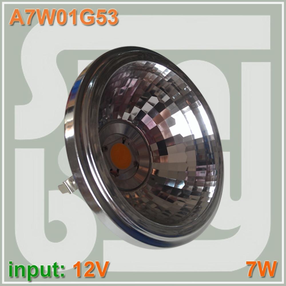 купить LED AR111 COB reflector 7W G53 12V 770LM replace to 50W bulb high lumens two years warranty 7w AR111 spotlight bulb по цене 327.75 рублей