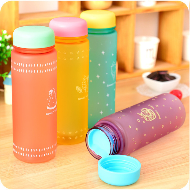 New Fashion Macarons Fruit Juice Sport Portable Travel Bottle Water Cup 450ML