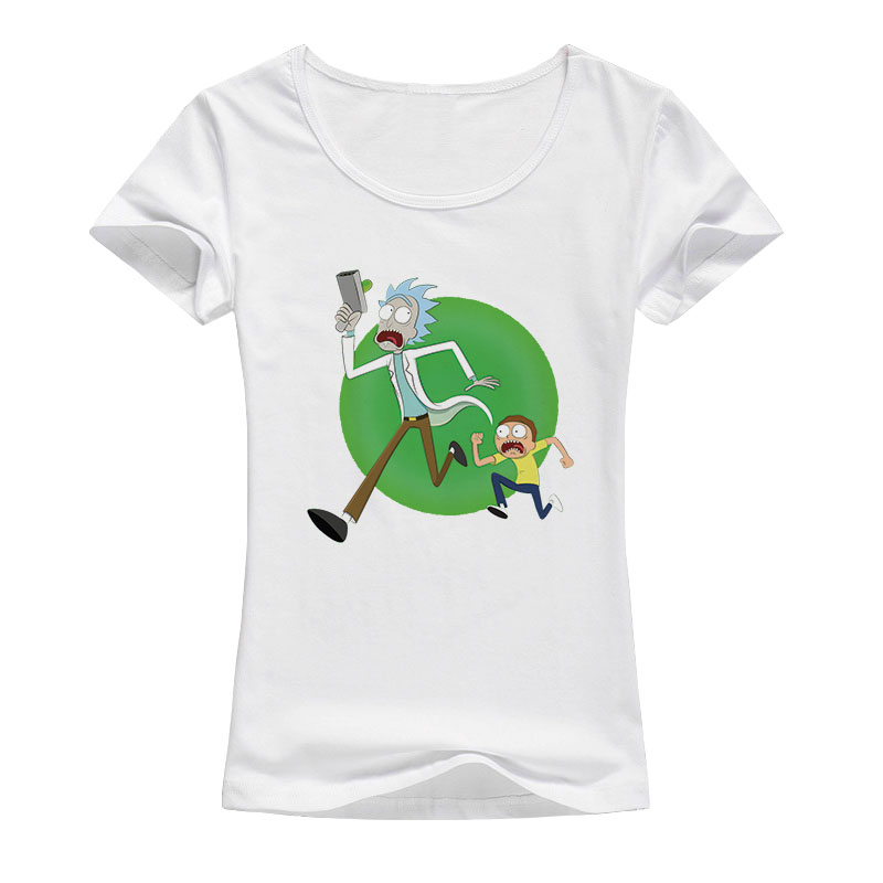 summer Casual women t-shirt Rick and Morty Peace among worlds brand-clothing Short Sleeves Cotton Rick Morty T shirts A140