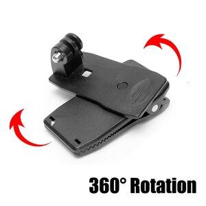 Image 3 - Action Camera Clip For GoPro Hero 8 7 6 5 4 Mount 360 Degree Rotary Clip Backpack Mount For Session 3+ 3 SJCAM SJ4000 Garmin