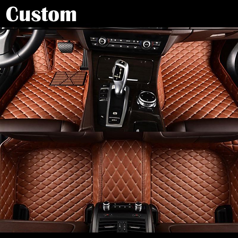Tapis de sol de voiture sur mesure EMS pour Mercedes Benz classe E W211 W212 S211 S212 E200 E220 E280 E300 E320 E350