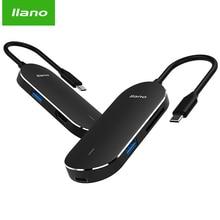 llano USB HUB USB C to HDMI PD Thunderbolt 3 Adapter for MacBook Samsung Galaxy S9/S8 for Huawei P20 Pro Type-C USB 3.0 HUB 5 in 1 type c to hdmi 3 usb 3 0 hub adapter for macbook samsung galaxy s9 huawei p20 pro charger usb hub hdtv usb c cable data