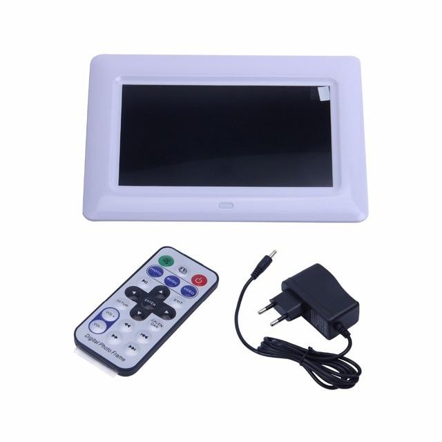 Meilleures offres 7 pouces HD TFT LCD cadre Photo numérique avec MP3 MP4 diaporama horloge bureau à distance lecteur de film