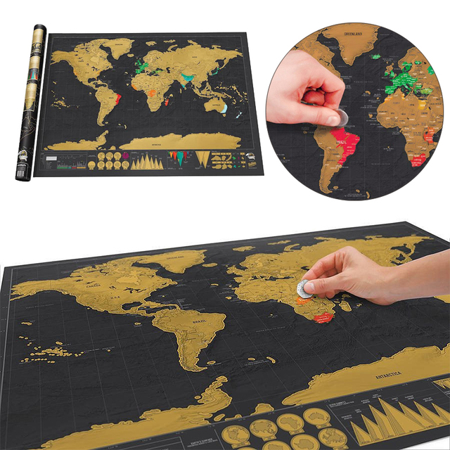 1pc 825595cm deluxe scratch world map stickers personalized world 1pc 825595cm deluxe scratch world map stickers personalized world scratch map mini scratch gumiabroncs Choice Image