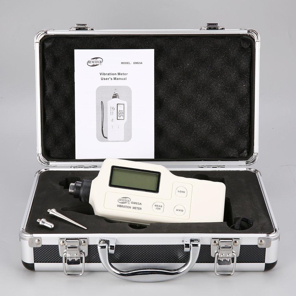 купить GM63A Digital Vibration Meters Vibrometer Meter Device Measures Handheld Analyzer Tester Analyzer Gauge High Precision по цене 6072.35 рублей