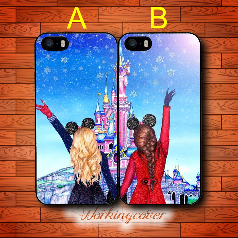 Coque brunette blonde best friends drop shipping case for for Housse ipod touch 5