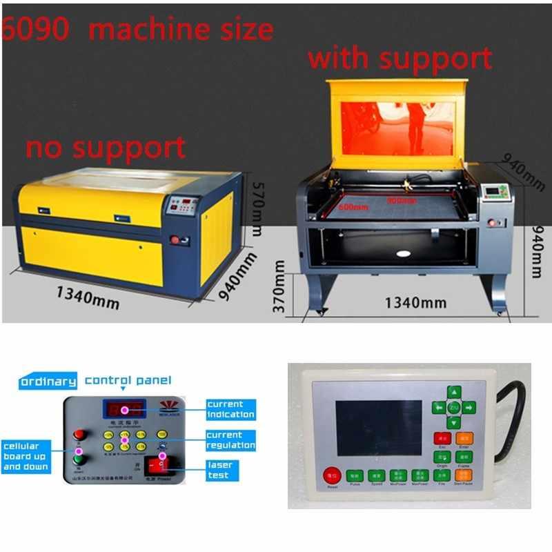 Envío Gratis 6090 ruida Co2 grabado láser con control ruida fuera de línea, máquina de marcado láser, máquina de grabado láser