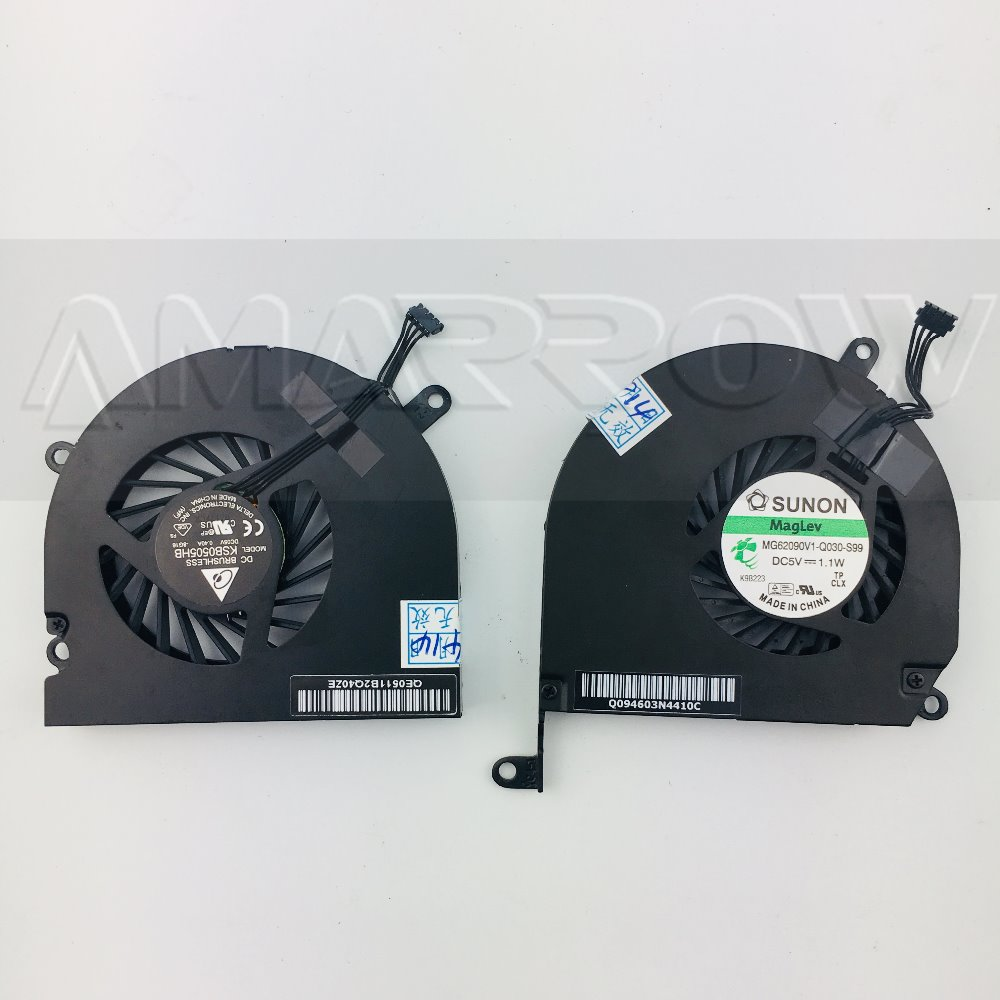 Laptop CPU Fan for Apple Macbook Pro 15 A1286 A1297 2009 /2010 /2011/2012 cooling fan Left or right.