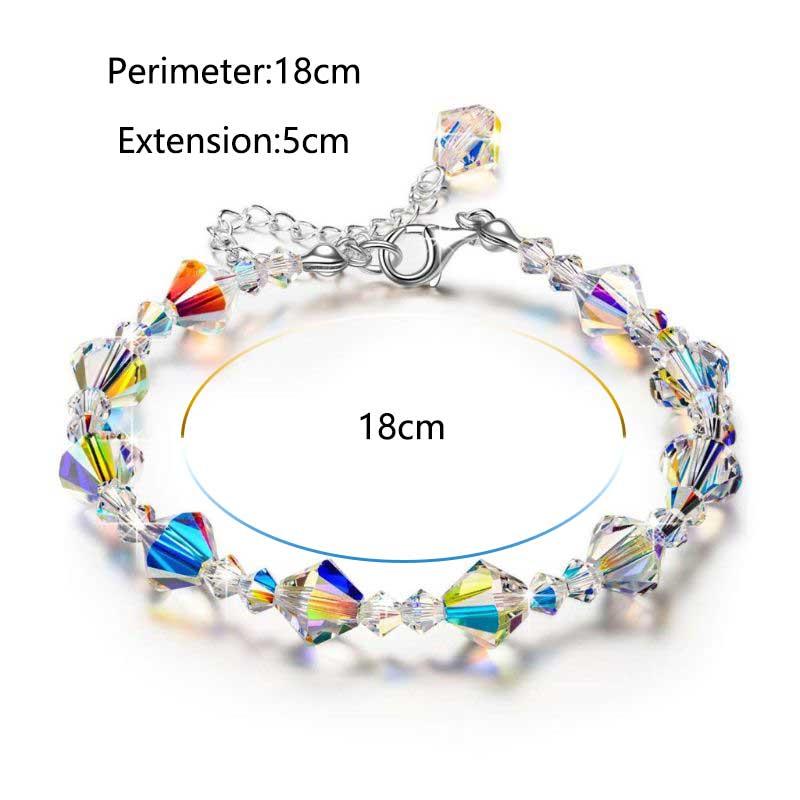 Luxury Exquisite Aurora Square Geometric Polygon Bead Crystals Bracelet Women Females Tennis Bracelet Charm Jewelry Accessory 1