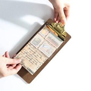 A4 A5 папка для файлов блокнот для письма зажим для доски винтажный металлический зажим для меню держатель для документов школьные офисные ка...