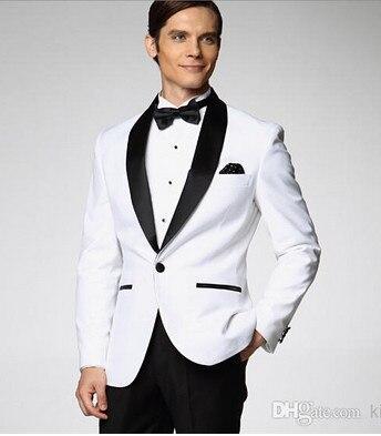 jacke + Hosen + Tie Anzüge Bräutigam Smoking Schwarz Rot Freizeit Revers Kragen Einreihige Knopf Best Man Anzug Formellen Anlässen Anzug