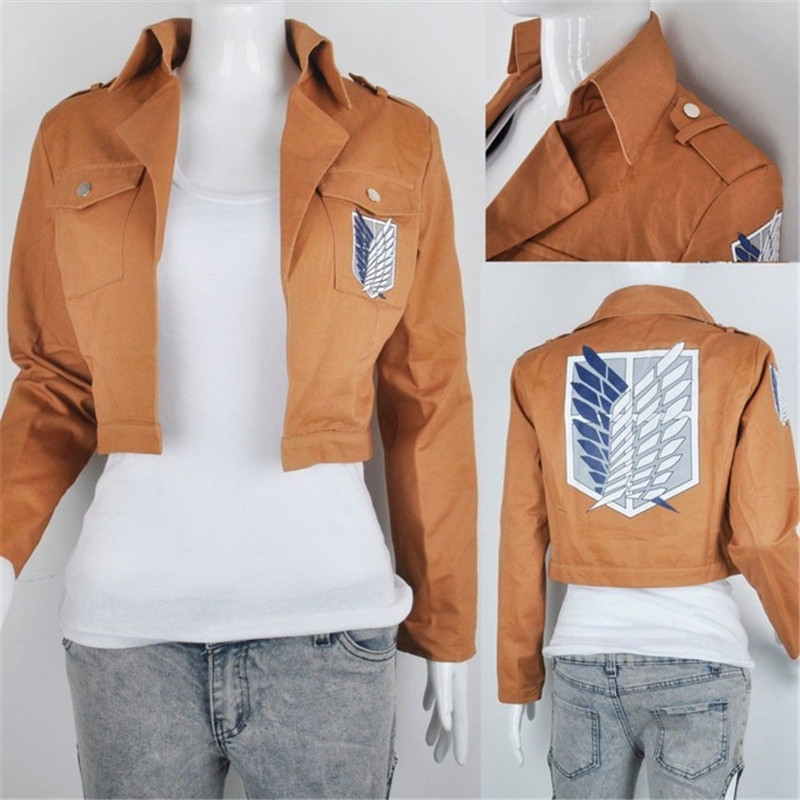 Attack On Giants COS Costumes Halloween Investigation Corps Allen III Troops Jackets Clothes Anime Costumes