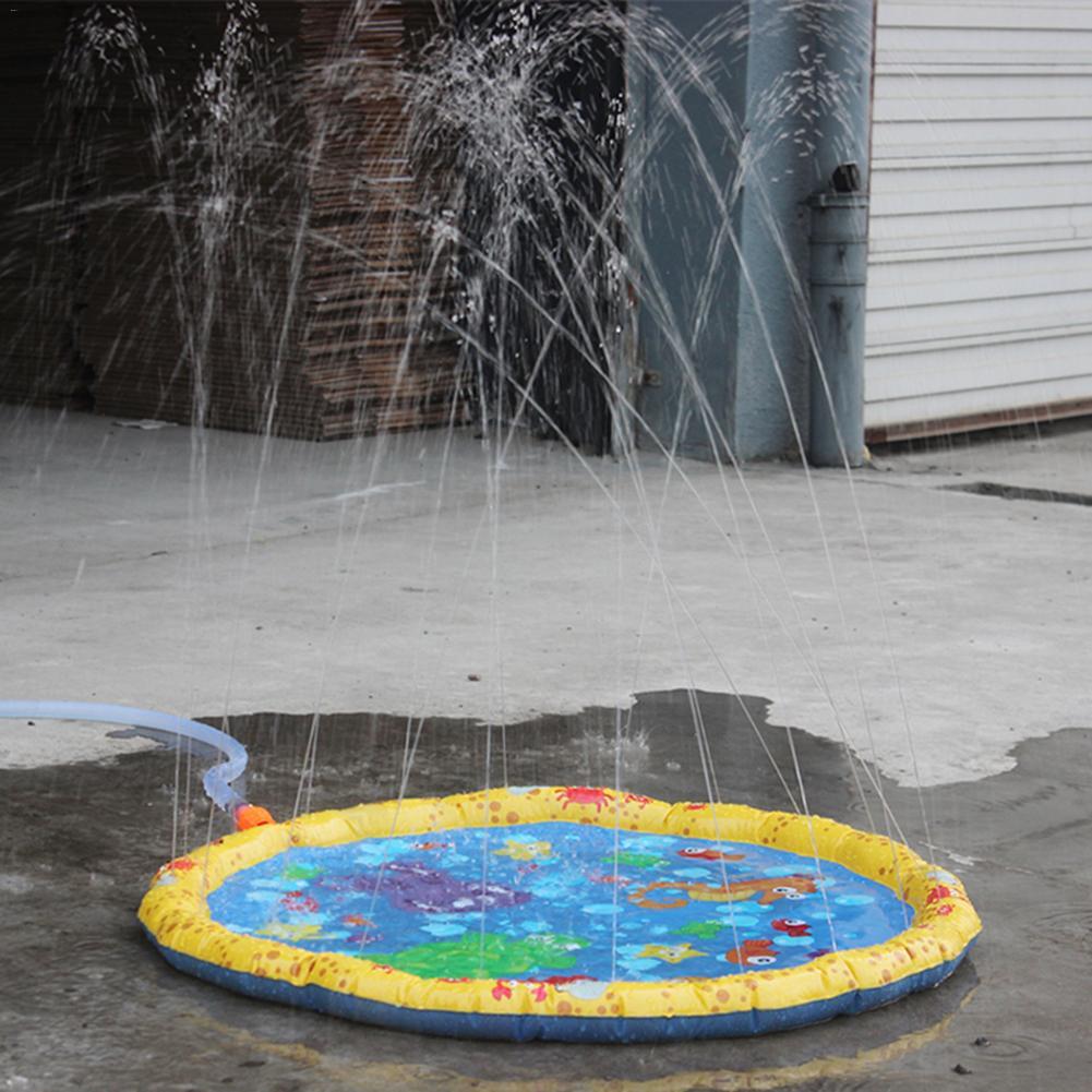 Children Water Beach Spraying Cushion Summer Children Outdoor Inflatable Spray Water Toy Lawn Outdoor Play Water Supplies 6pcs water spray swim dolphin babies toy