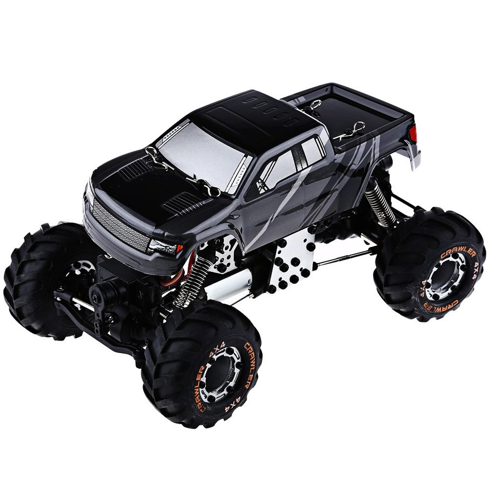 high speed mini rc toy car 1 24 hbx 2098b 4 wheel drive remote control car 2 4g metal structure. Black Bedroom Furniture Sets. Home Design Ideas