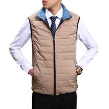 2017 New Men's Parkas Vests Fashion Business Hot Sales Men Loose Casual Vest Slim Warm and Comfortable Large Size Movement S-7XL