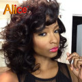 Deep Wave Short Full Lace Human Hair Wig For Black Women Curly Lace Front Human Hair Wigs Upart Wig Lace Frontal&Front Lace Wigs