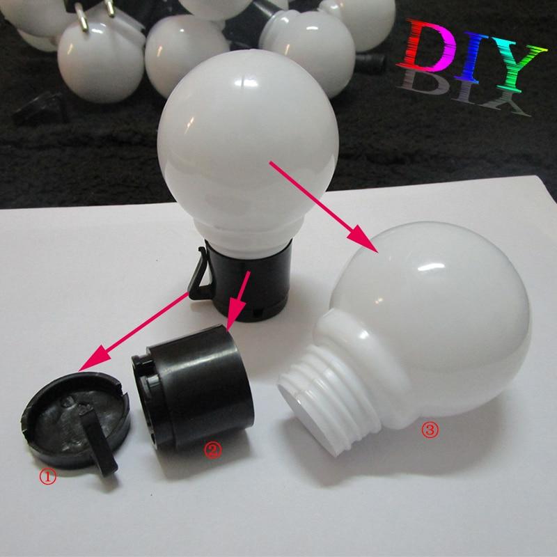 20 piezas Bola de Navidad Cadena de LED Cadenas de luz nocturna - Luces nocturnas - foto 5