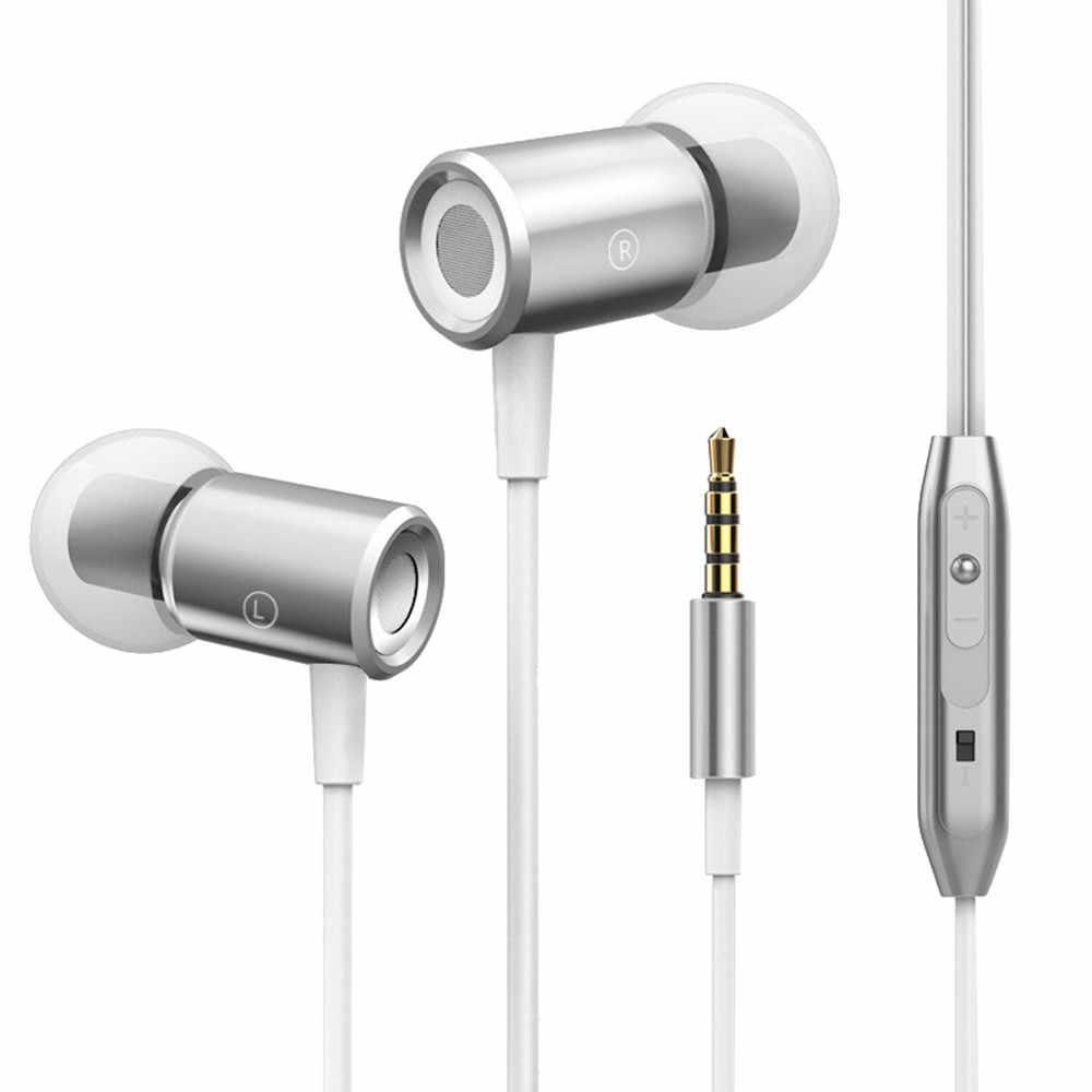 3.5mm Stereo Super Bass słuchawka do muzyki zestaw słuchawkowy z mikrofonem objętośćKontroliSłuchawki czarny złota róża złoto srebro # H20