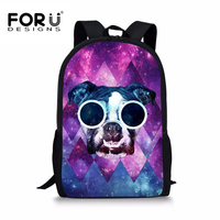 FORUDESIGNS Galaxy Cat Printing Children Backpack Animal 3D School Backpacks For Teenage Girls Boys Large Kids
