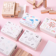 12pcs/pack Cute diary series wood stamp DIY craft wooden rubber stamps for scrapbooking stationery scrapbooking standard stamp gsfy 40pcs set happy life diary girl cute cartoon mounted rubber stamp wooden box