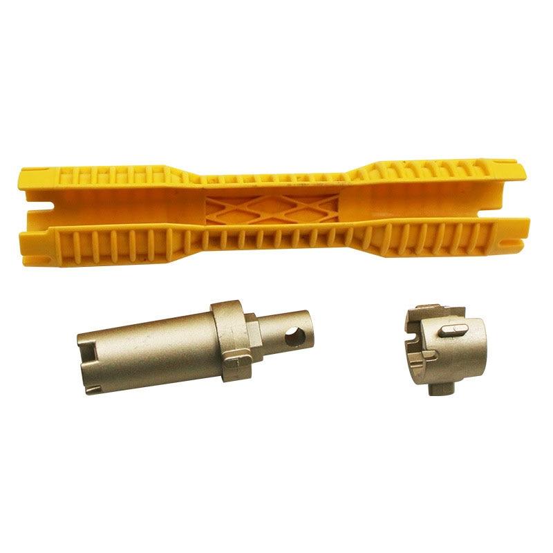 Multi-purpose Plumbing Tool Faucet Sink Installer Tool Pipe Wrench Power Drill Ratchet Bushing Spanner Key Gator