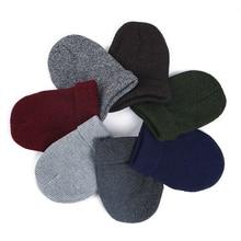 Winfox Casual Fur Pompom Winter Skullies Hat Blue White Ski skating Knit Beanies Hats Head Warm For Men Woman Children Hat Cap цена