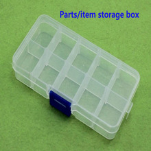 купить Multi-function Parts Storage Box Connector 10 Grid / 15 / 24 / 36 Grid Plastic Waterproof Anti-fall по цене 465.69 рублей