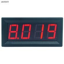 OOTDTY 0-9.999A(10A) 4-знака после запятой бит Амперметр измерительный прибор с панелью 0,56 дюймов красный светодиодный