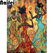 5d diy diamond painting cross stitch kit african girl diamond embroidery accessories diamond mosaic christmas decoration