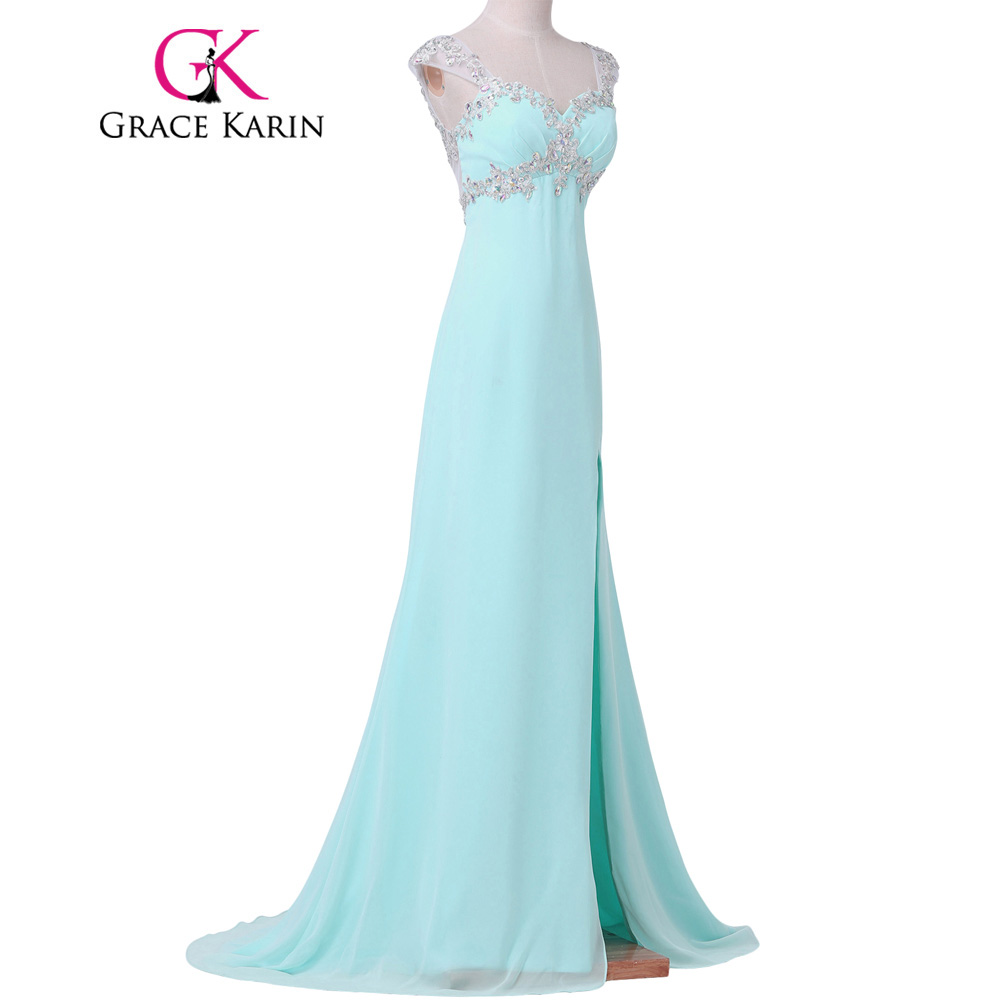 Grace Karin Mermaid Evening Dress Elegant Light Coral Turquoise ...