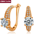 Top Quality Noble CZ  Rose Gold Plated Fashion Earring Jewelry Austrian Crystal Wholesale ZYE560 ZYE479
