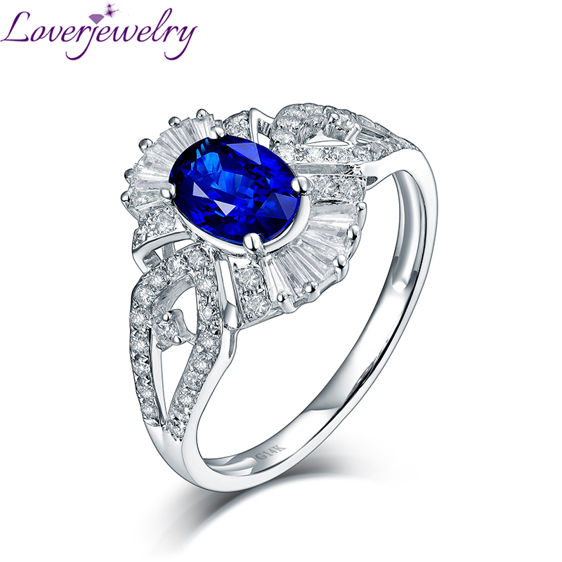 Elegant Oval Tanzanite Luxury Good Diamond Anniversary Ring Real 14t White Gold for Wife Birthday Fine Jewelry Christmas Gift lovely yellow sapphire earring charming diamond engagement fine jewelry for wife birthday anniversary gift