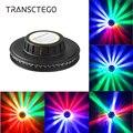 48 Led дискотечный свет RGB для вечеринок Голосовое управление Авто вращающееся Подсолнух сценическое освещение диско настенная лампа бар DJ Ро...
