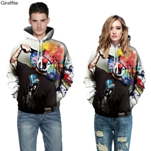 Giraffita  Autumn New Fashion Women Men Suicide Clown 3d/galaxy Sweatshirts Hoodies Sweater Tops